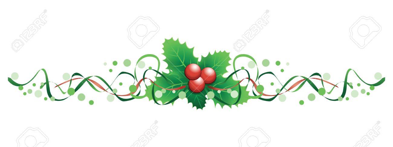 23250652-christmas-holly-banner